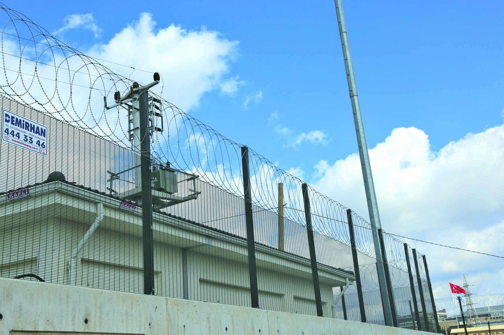 Yüksek güvenlik çiti, panel çit